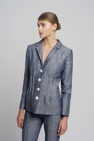 Linen Jeans Jacket - Oberson House Of Design