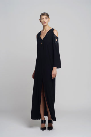 Taft Silk Chiffon Embroidered Dress - Oberson House Of Design
