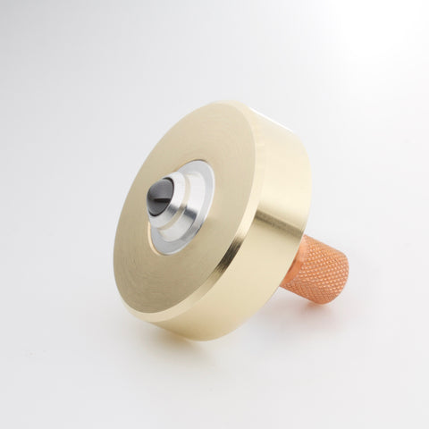 Image of Brass & Copper Mixed Metal Mk1 Spinning Top (restock soon)