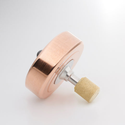 Image of Copper & Brass Mixed Metal Mk1 Spinning Top (restock soon)