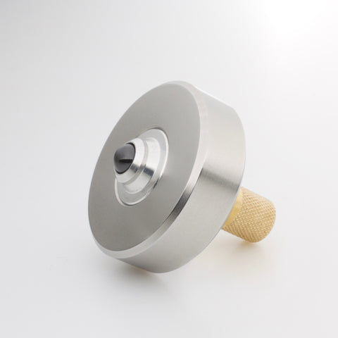 Image of Stainless & Brass Mixed Metal Mk1 Spinning Top (restock soon)