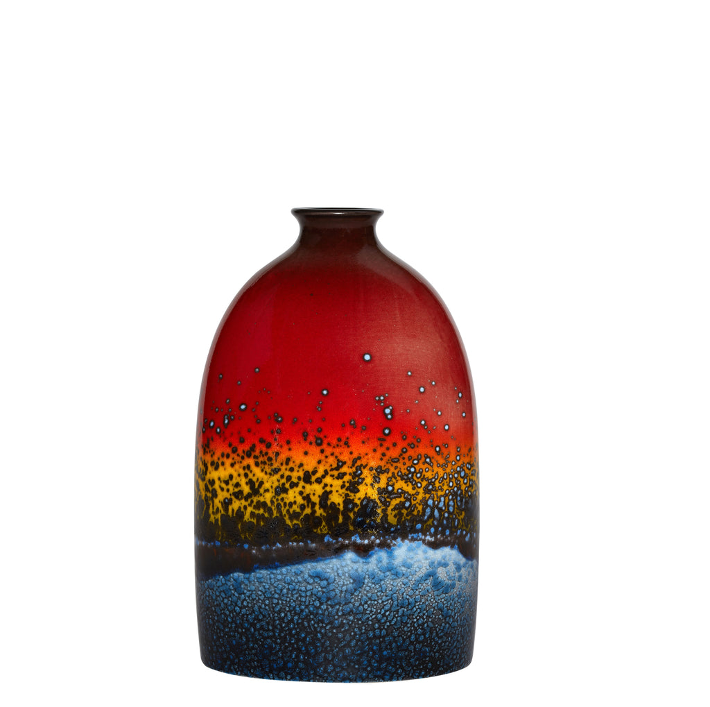 SUNSET OVAL BOTTLE VASE 28CM