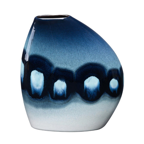 Blue Orchid Asymmetrical Bean Vase Seconds