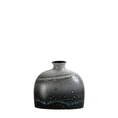 Aura Small Oval Bottle Vase 12cm