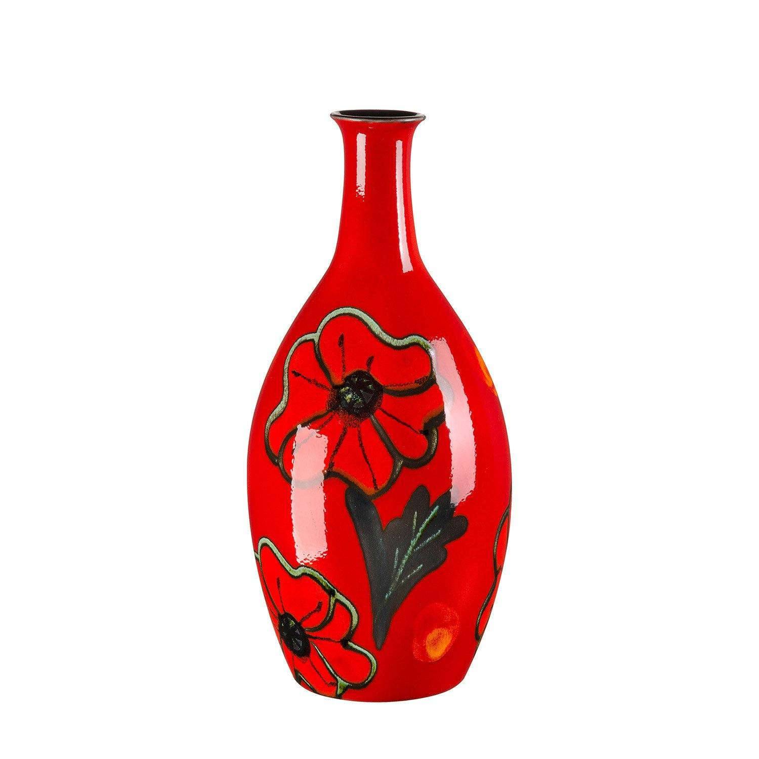 Poppyfield Tall Bottle Vase 26cm Poole Pottery