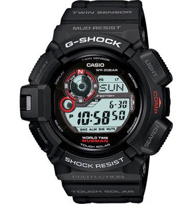 Casio - G-Shock Solar Mudman Watch, Black- G9300-1 - OPTICS PROS