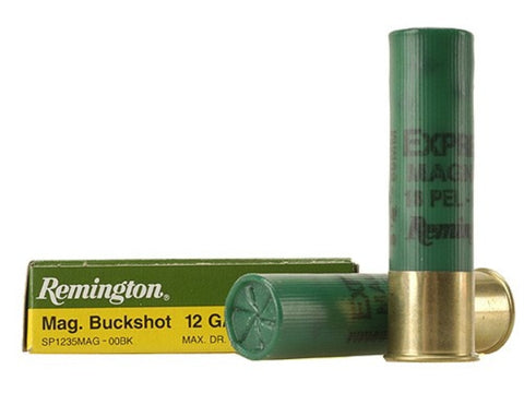 "Remington Express Ammunition 12 Gauge 3-1/2"" 00 Buckshot 18 Pellets Box of 5 - OPTICS PROS"