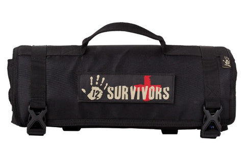 12 Survivors First Aid Rollup Kit TS42000B - OPTICS PROS