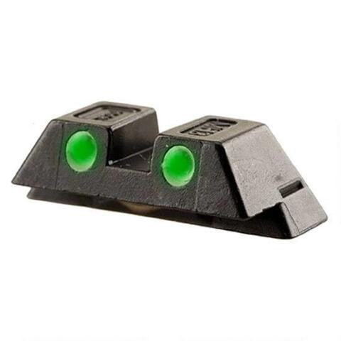 GLOCK Fixed Rear Night Sight for 9MM/.40/.357 6.5mm Tritium Green - OPTICS PROS