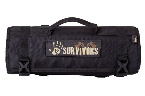 12 Survivors Knife Rollup Kit TS42001B - OPTICS PROS