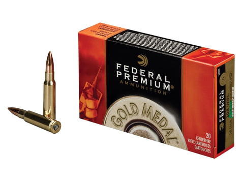 Federal Premium Gold Medal Ammunition 308 Winchester 168 Grain Sierra MatchKing Hollow Point Boat Tail Box of 20 - OPTICS PROS