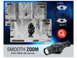 ATN ThOR HD Thermal Rifle Scope 2.5-25x 50mm 640x480 with HD Video Recording, Wi-Fi, GPS, Smooth Zoom, Smartphone Control via iOS or Android app Matte - OPTICS PROS