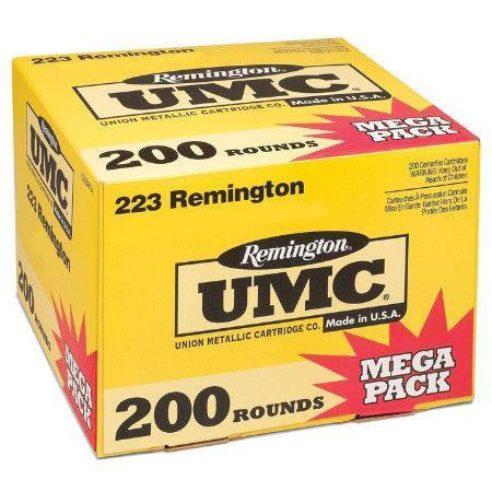 Remington UMC Rifle Ammunition .223 Rem 55 grain Full Metal Jacket, Box of 200 - OPTICS PROS