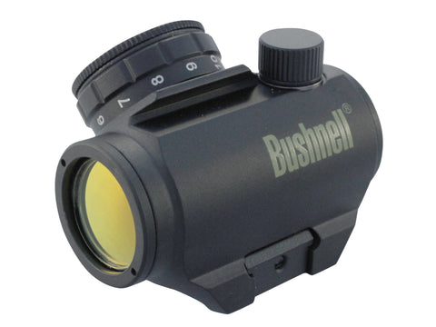 Bushnell Trophy TRS-25 Red Dot Sight 1x 25mm 3 MOA Dot with Integral Weaver-Style Mount Matte - OPTICS PROS