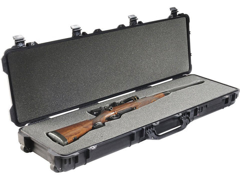 Pelican 1750 Scoped Rifle Case with Wheels and Foam Inserts Polymer - OPTICS PROS