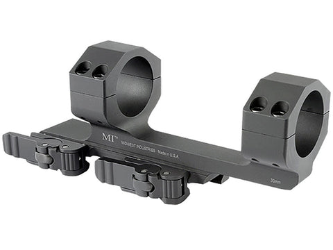 "Midwest Industries 30mm QD Scope Mount Picatinny-Style with 1.5"" Offset Matte - OPTICS PROS"
