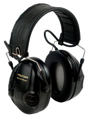 Peltor TacSport Electronic Earmuffs (NRR 20dB) Black 97451 - OPTICS PROS