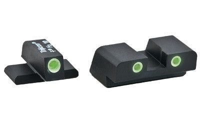 AmeriGlo, Springfield XD/XDM/XDS 3-Dot Night Sights, Green Front/Rear, Black - OPTICS PROS