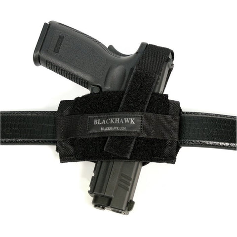 BlackHawk Ambidextrous Flat Belt Holster Black 40FB02BK - OPTICS PROS