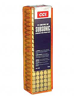 CCI Ammunition 22 Long Rifle Subsonic 40 Grain Lead Hollow Point Box of 100 - OPTICS PROS