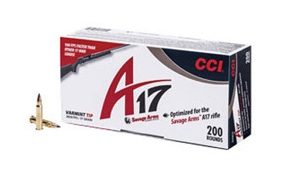 CCI A17 .17 HMR Ammunition, Varmint Tip 17 Grain  200 Round Box - OPTICS PROS