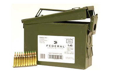 Federal Ammunition 5.56x45mm NATO 62 Grain XM855 SS109 Penetrator Full Metal Jacket 10 Round Clips in Ammo Can of 420 - OPTICS PROS
