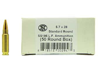 FN SS195LF Ammunition 5.7x28mm FN 27 Grain Jacketed Hollow Point Lead-Free, Box of 50 - OPTICS PROS