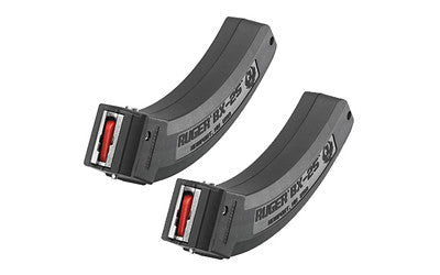 Ruger BX Series Magazine Ruger 10/22 22 Long Rifle Polymer, Black, 2-Pack - OPTICS PROS