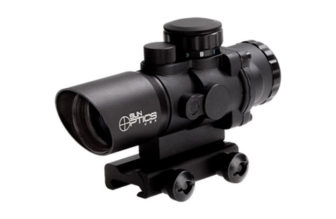 Sun Optics 3x32 Prismatic Red Dot Sight with Illuminated Reticle PS30332IR - OPTICS PROS