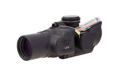 Trijicon 1.5x16S Compact ACOG® Scope Low Height, Dual Illuminated Red/Green/Amber Ring & 2 MOA Center Dot Reticle - OPTICS PROS