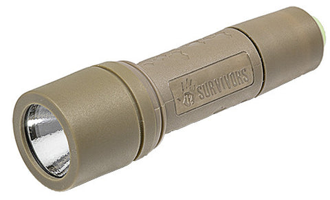 12 Survivors GeoSpark 150Lumen Flashlight TS23001 - OPTICS PROS