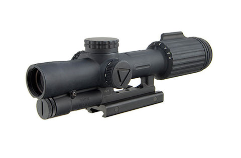 Trijicon VCOG 1-6x24 Riflescope Red/Green Horseshoe Dot / Crosshair .223 / 55 Grain Ballistic Reticle w/ Thumb Screw Mount - OPTICS PROS
