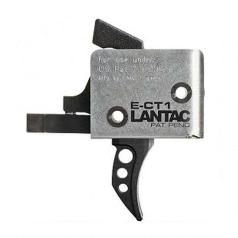 CMC Lantac E-CT1 AR-15 Drop-In Single Stage Curved Trigger 3-3.5 lbs Black 91511
