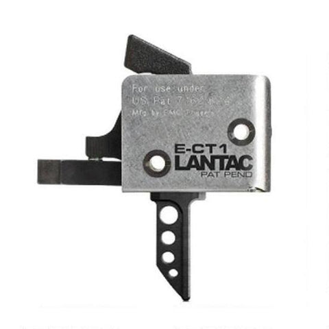 CMC Lantac E-CT1 AR-15 Drop-In Single Stage Flat Trigger 3-3.5 lbs Black 91513