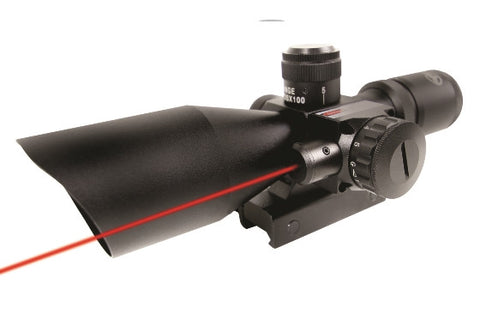 Firefield 2.5-10x40 Riflescope with Red Laser  FF13011 - OPTICS PROS