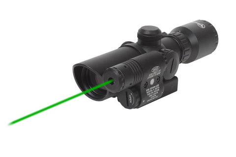 Firefield 1.5-5 Riflescope with Attached Green Laser FF13017 - OPTICS PROS
