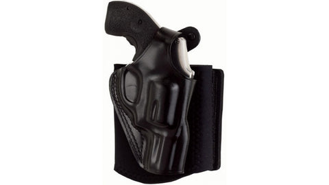 Galco Ankle Glove Handgun Ankle Holsters, Right Hand, Black Leather - OPTICS PROS