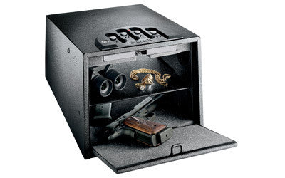 "GunVault Deluxe MultiVault Personal Electronic Safe 10"" x 8"" x 14"" Black - OPTICS PROS"