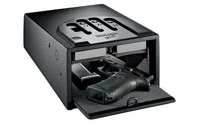 "GunVault Biometric MiniVault Personal Electronic Safe 8"" x 5"" x 12"" Black - OPTICS PROS"