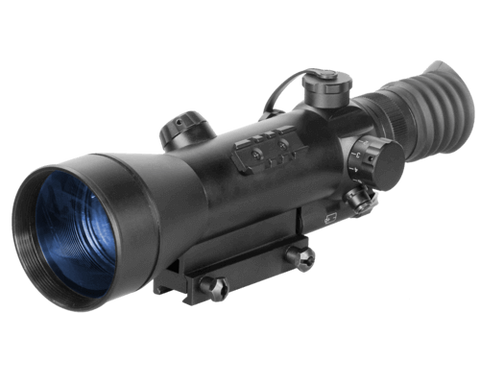 ATN Night Arrow 4-2 2nd+ Generation Night Vision Rifle Scope 4x Illuminated Red Duplex Reticle w/Integral Weaver-Style Mount - OPTICS PROS