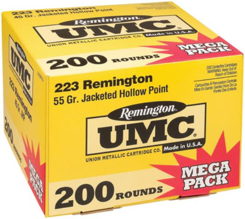 Remington UMC .223 Rem 55gr Metal Case 200rd/Mega Pack - OPTICS PROS