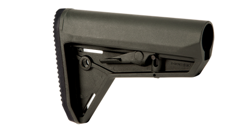 Magpul Industries MOE Slim Line Carbine Stock, MIL-SPEC MAG347 - OPTICS PROS