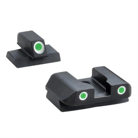 AmeriGlo, Classic FNX .40 S&W Three Dot Tritium Set, Steel - OPTICS PROS