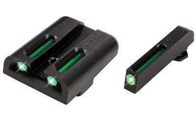 TRUGLO TFO Sight Set Glock 20, 21, 29, 30, 31, 32, 37, 41 Steel Tritium / Fiber Optic - OPTICS PROS