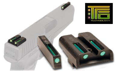 TRUGLO TFO Sight Set Sig Sauer #6 Front #8 Rear Steel Tritium / Fiber Optic TG131ST2 - OPTICS PROS