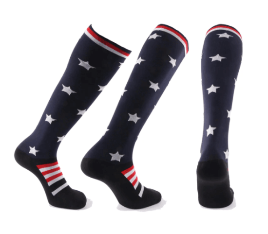 """Stars & Stripes"" Compression Socks - 20-30 mmHg Patriotic Support for Reduced Swelling!"