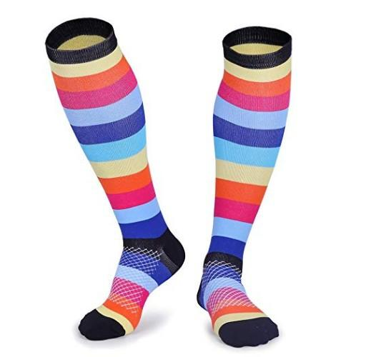 """Funky Town"" Compression Socks - 20-30 mmHg Colorful Support Stockings!"
