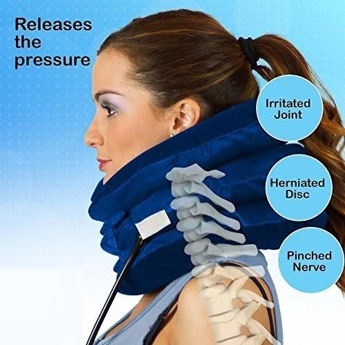 Neck Brace Cervical Traction Device Support Pillow