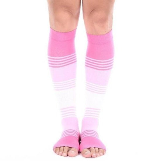 Open Toe Compression Socks Toeless Men Women