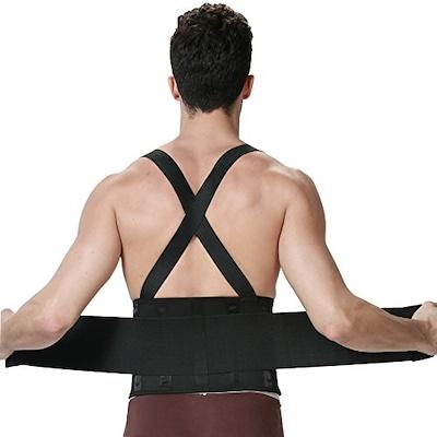 Back Brace for Lower Posture Lumbar Pain Support with Suspenders